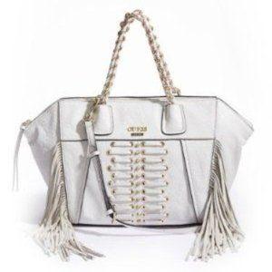 NWT Guess Gypsy Fever Handbag White Fringe
